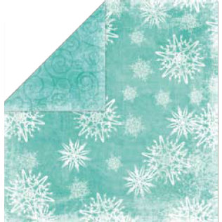 Bo Bunny Press - Holiday Cheer Collection - 12 x 12 Double Sided Paper - Holiday Cheer Frost