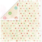 Bo Bunny Press - Holiday Cheer Collection - 12 x 12 Double Sided Paper - Holiday Cheer Gumdrops