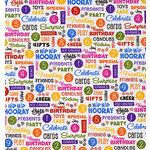 Bo Bunny Press - Hip Hip Hooray Collection - 12x12 Paper - Hip Hip Hooray Bright