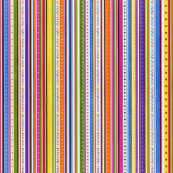 Bo Bunny Press - Hip Hip Hooray Colleciton - 12x12 Paper - Hip Hip Hooray Bright Stripe, CLEARANCE