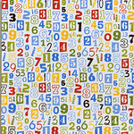 Bo Bunny Press - Hip Hip Hooray Collection - 12x12 Paper - Hip Hip Hooray Primary Numbers