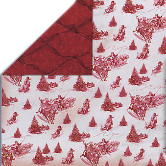 Bo Bunny Press - Homespun Holiday Collection - Christmas - 12x12 Double Sided Cardstock Paper - Homespun Holidays Toile