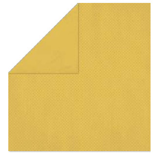 Bo Bunny - Double Dot Paper - 12 x 12 Double Sided Paper - Honey Mustard Dot