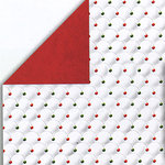 Bo Bunny Press - Holiday Magic Collection - Christmas - 12x12 Double Sided Shimmer Paper - Dot