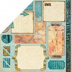 Bo Bunny Press - Homerun Baseball Collection - 12x12 Double Sided Paper - Cutout