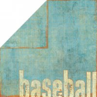 Bo Bunny Press - Homerun Baseball Collection - 12x12 Double Sided Paper - Double Play