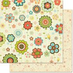 Bo Bunny Press - Hello Sunshine Collection - 12 x 12 Double Sided Paper - Busy Bee