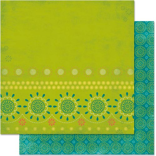 Bo Bunny - Hello Sunshine Collection - 12 x 12 Double Sided Paper - Sweet Pea