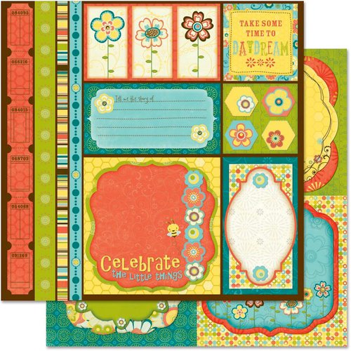 Bo Bunny Press - Hello Sunshine Collection - 12 x 12 Double Sided Paper - Cut Outs