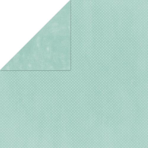 Bo Bunny Press - Double Dot Paper - 12 x 12 Double Sided Paper - Island Mist Dot