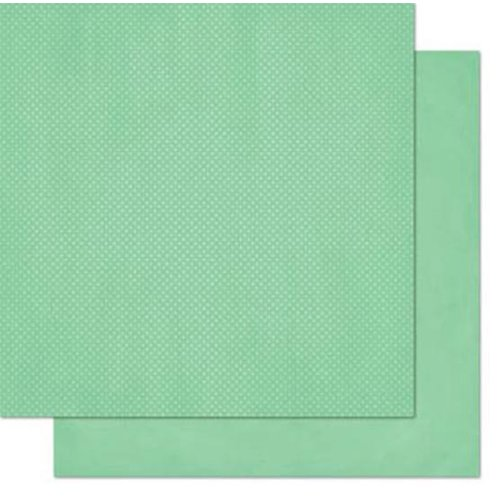 BoBunny - Double Dot Designs - 12 x 12 Double Sided Paper - Jade