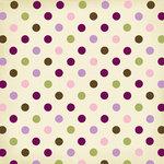 Bo Bunny Press - Jazmyne Collection - 12 x 12 Glittered Paper - Jazmyne Dew Drops