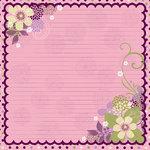 Bo Bunny Press - Jazmyne Collection - 12 x 12 Glittered Paper - Jazmyne Noteworthy