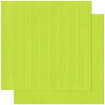 Bo Bunny Press - Double Dot Designs Collection - 12 x 12 Double Sided Paper - Stripe - Kiwi