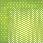 BoBunny - Double Dot Designs Collection - 12 x 12 Double Sided Paper - Chevron - Kiwi