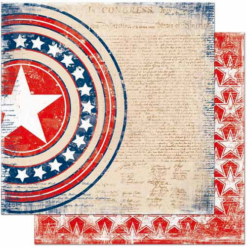 Bo Bunny Press - Liberty Collection - 12 x 12 Double Sided Paper - Liberty