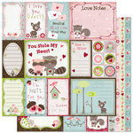 Bo Bunny Press - Love Bandit Collection - 12 x 12 Double Sided Paper - Love Bandit Cut-Outs, CLEARANCE