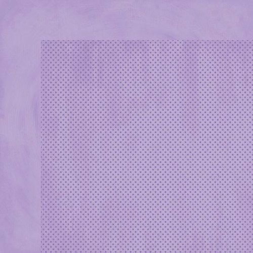 BoBunny - Double Dot Designs - 12 x 12 Double Sided Paper - Lavender Dot