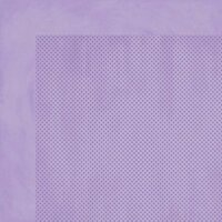 BoBunny - Double Dot Designs Collection - 12 x 12 Double Sided Paper - Lavender Dot