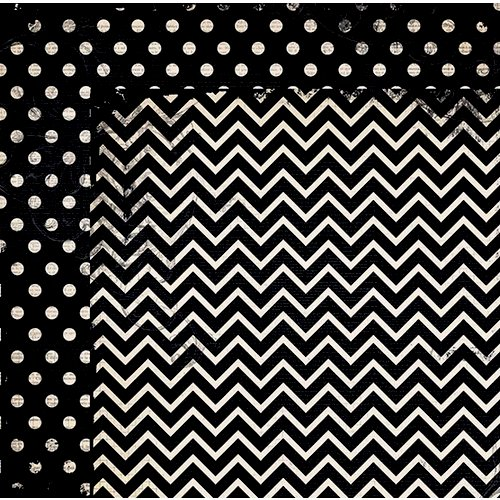 BoBunny - Double Dot Designs Collection - 12 x 12 Double Sided Paper - Chevron - Licorice