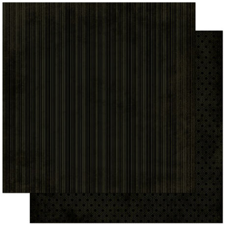 Bo Bunny - Double Dot Designs Collection - 12 x 12 Double Sided Paper - Stripe - Licorice