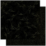 Bo Bunny - Double Dot Designs Collection - 12 x 12 Double Sided Paper - Flourish - Licorice