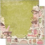 Bo Bunny - Little Miss Collection - 12 x 12 Double Sided Paper - Alice