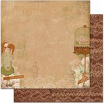 Bo Bunny - Little Miss Collection - 12 x 12 Double Sided Paper - Hannah