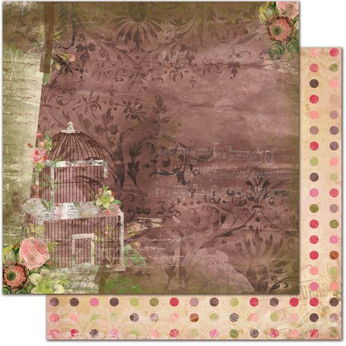 Bo Bunny - Little Miss Collection - 12 x 12 Double Sided Paper - Lizzie