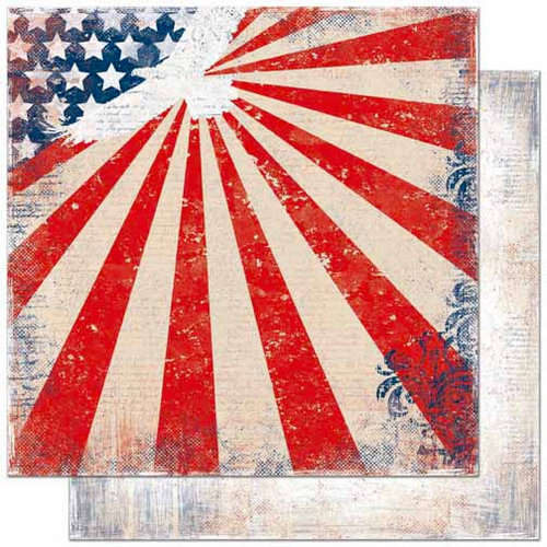Bo Bunny Press - Liberty Collection - 12 x 12 Double Sided Paper - Patriot