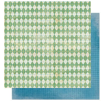 Bo Bunny Press - Learning Curve Collection - 12 x 12 Double Sided Paper - Learning Curve Recess