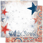 Bo Bunny Press - Liberty Collection - 12 x 12 Double Sided Paper - Sparkler