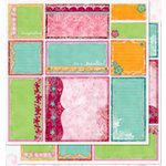Bo Bunny Press - Love Shack Collection - 12 x 12 Double Sided Paper - Love Shack Cut-Outs