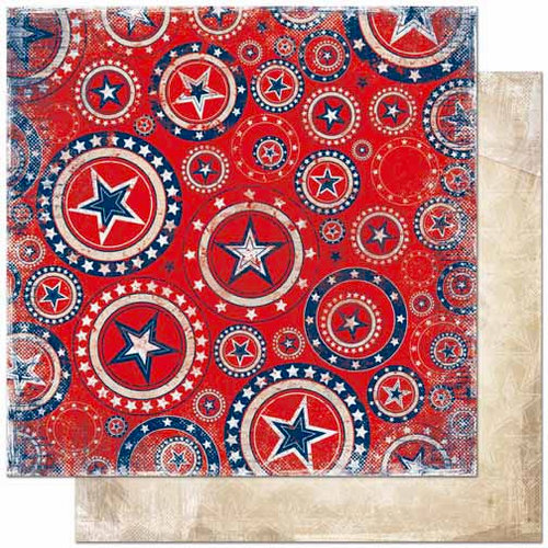 Bo Bunny Press - Liberty Collection - 12 x 12 Double Sided Paper - United