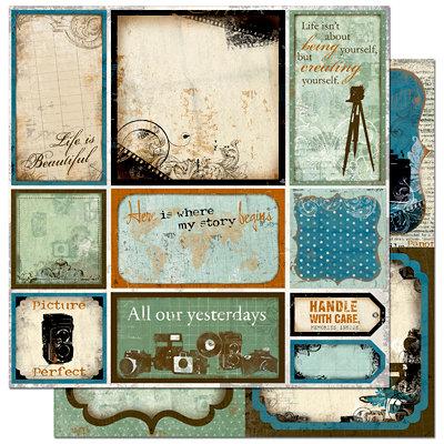 Bo Bunny Press - Mama-razzi Collection - 12 x 12 Double Sided Paper - Mama-razzi Cut Outs