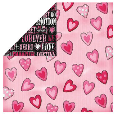 Bo Bunny Press - Month 2 Month Collection - 12x12 Double Sided Paper - February