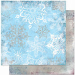 Bo Bunny Press - Midnight Frost Collection - Christmas - 12 x 12 Double Sided Paper - Midnight Frost Crystals