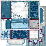 Bo Bunny Press - Midnight Frost Collection - Christmas - 12 x 12 Double Sided Paper - Midnight Frost Cut Outs