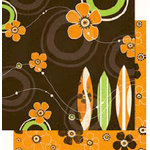 Bo Bunny Press - Mango Luau Collection - 12 x 12 Double Sided Paper - Mango Luau