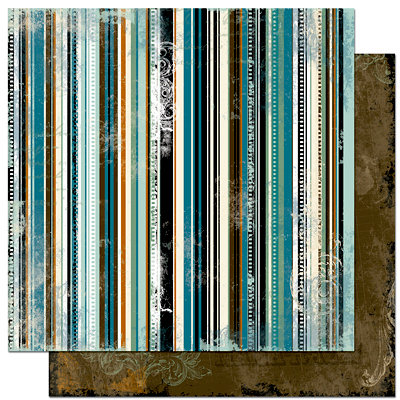 Bo Bunny - Mama-razzi Collection - 12 x 12 Double Sided Paper - Mama-razzi Stripe