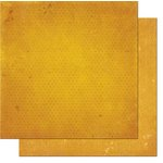 BoBunny - Double Dot Designs - 12 x 12 Double Sided Paper - Vintage - Maize