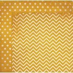 BoBunny - Double Dot Designs Collection - 12 x 12 Double Sided Paper - Chevron - Maize