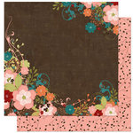 Bo Bunny Press - Olivia Collection - 12 x 12 Double Sided Paper - Olivia