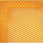 Bo Bunny - Double Dot Designs Collection - 12 x 12 Double Sided Paper - Chevron - Orange Citrus