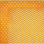 BoBunny - Double Dot Designs Collection - 12 x 12 Double Sided Paper - Chevron - Orange Citrus