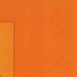 BoBunny - Double Dot Collection - 12x12 Double Sided Cardstock Paper - Orange Citrus