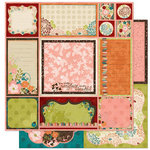 Bo Bunny Press - Olivia Collection - 12 x 12 Double Sided Paper - Olivia Cut Outs