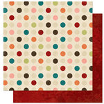 Bo Bunny - Olivia Collection - 12 x 12 Double Sided Paper - Olivia Dot