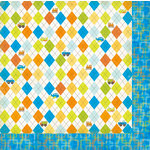 Bo Bunny Press - On The Go Collection - 12 x 12 Double Sided Paper - Argyle