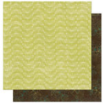 Bo Bunny Press - Olivia Collection - 12 x 12 Double Sided Paper - Olivia Honeydew